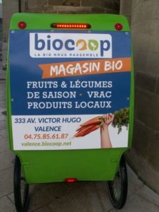 cycloTEAM pub pour Biocoop Valence